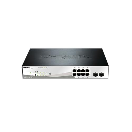 DGS-1210-10P | D-link 10-Port Smart Managed Gigabit PoE Switch