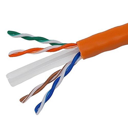 Vivanco CAT6 Fire Proof Orange Color UTP CABLE